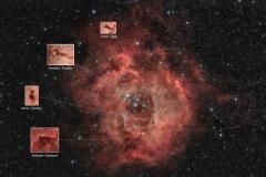 Nebulosa Rosetta NGC 2237 e C 49