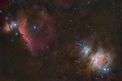 Nebulosa Testa di Cavallo IC 434 e Grande Nebulosa di Orione