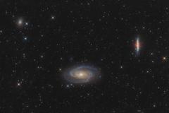 Galassia di Bode e galassia Sigaro M 81 e M 82