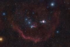 Anello di Barnard con Nebulosa Testa di Cavallo IC 434 e Grande Nebulosa di Orione M42