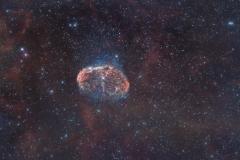 Crescent Nebula NGC 6888 nebulosa Crescente