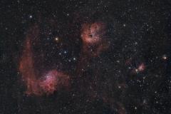 Nebulosa Girino  IC 410 e Flaming Star Nebula IC 405 nebulosa Fiammeggiante