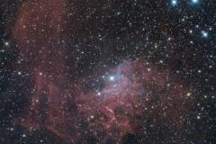 Flaming Star Nebula IC 405 nebulosa Fiammeggiante