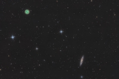 Nebulosa planetaria Gufo o Civetta NGC 3587 e Galassia M 108