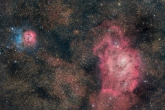 Nebulosa Trifida M 20 e Nebulosa Laguna M 8