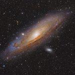 Galassia di Andromeda fotografata con rifrattore apocromatico Tecnosky e Canon 600D