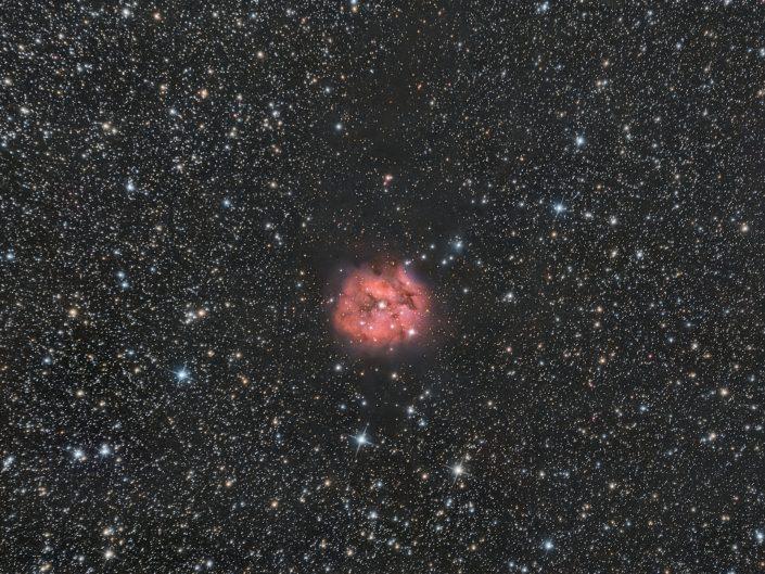 Nebulosa Bozzolo, una piccola nebulosa nella costellazione del Cigno. Scatti da 8 minuti con Sky-Watcher 200/800, ASI 294 Pro, L-pro Optolong, tutto su Sky-Watcher AZEQ6-GT. Totale di circa 3 ore di segnale.