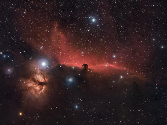 Sky-Watcher Evostar 72 ED con una reflex Canon 600D su Nebulosa Testa di Cavallo