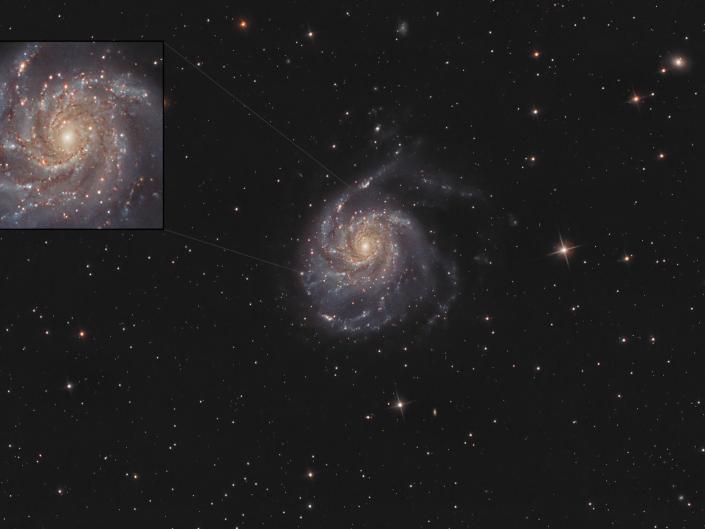La galassia Girandola è una splendida galassia a spirale nella costellazione dell'Orsa Maggiore che dista da noi circa 20 milioni di anni luce.