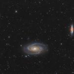 Galassia di Bode e galassia Sigaro Sky-Watcher 200/800 f4, ASI 071, Optolong L-pro 246x90'' Pixinsight, Photoshop.