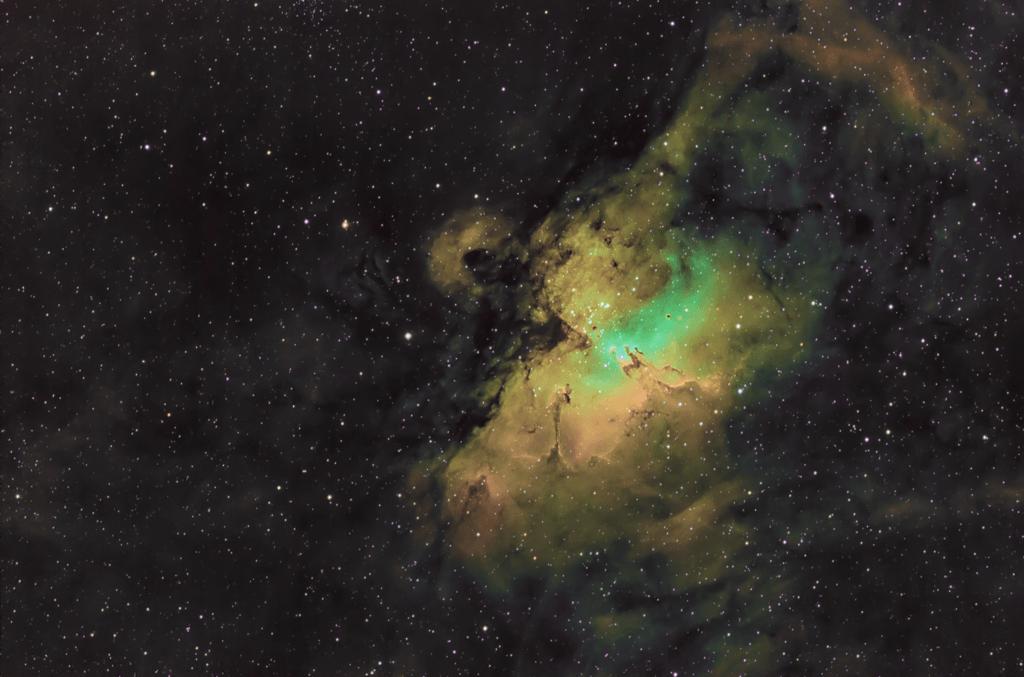 Nebulosa Aquila M16 o NGC 6611 Pilastri della Creazione Telescopio SkyWatcher 200/1000 Recensione