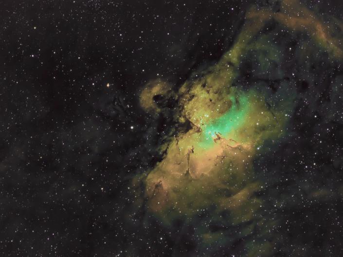 Nebulosa Aquila M16 o NGC 6611 Pilastri della Creazione