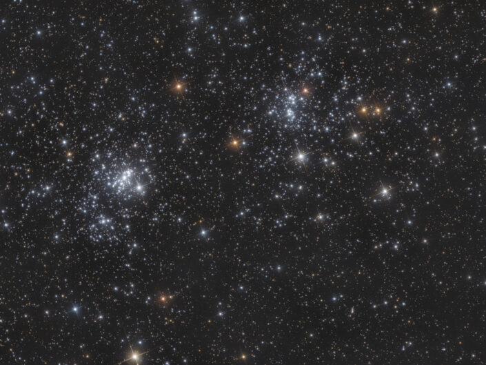 NGC 869 e NGC 884 Doppio Ammasso di Perseo eaf focuser zwo QHY294C Camera CMOS QHY con sensore Sony 294