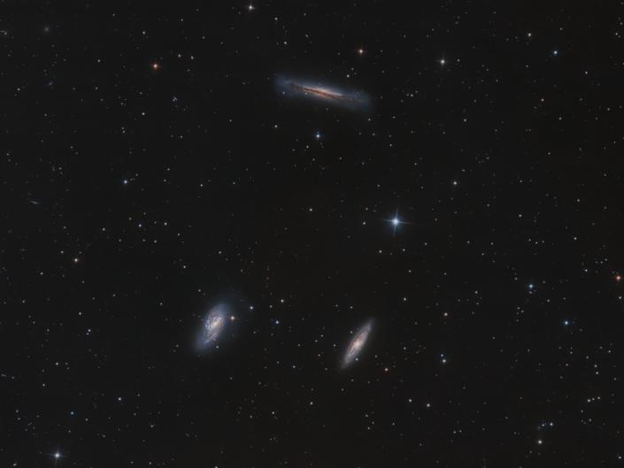 Tripletto del Leone M66, M65 NGC 3628