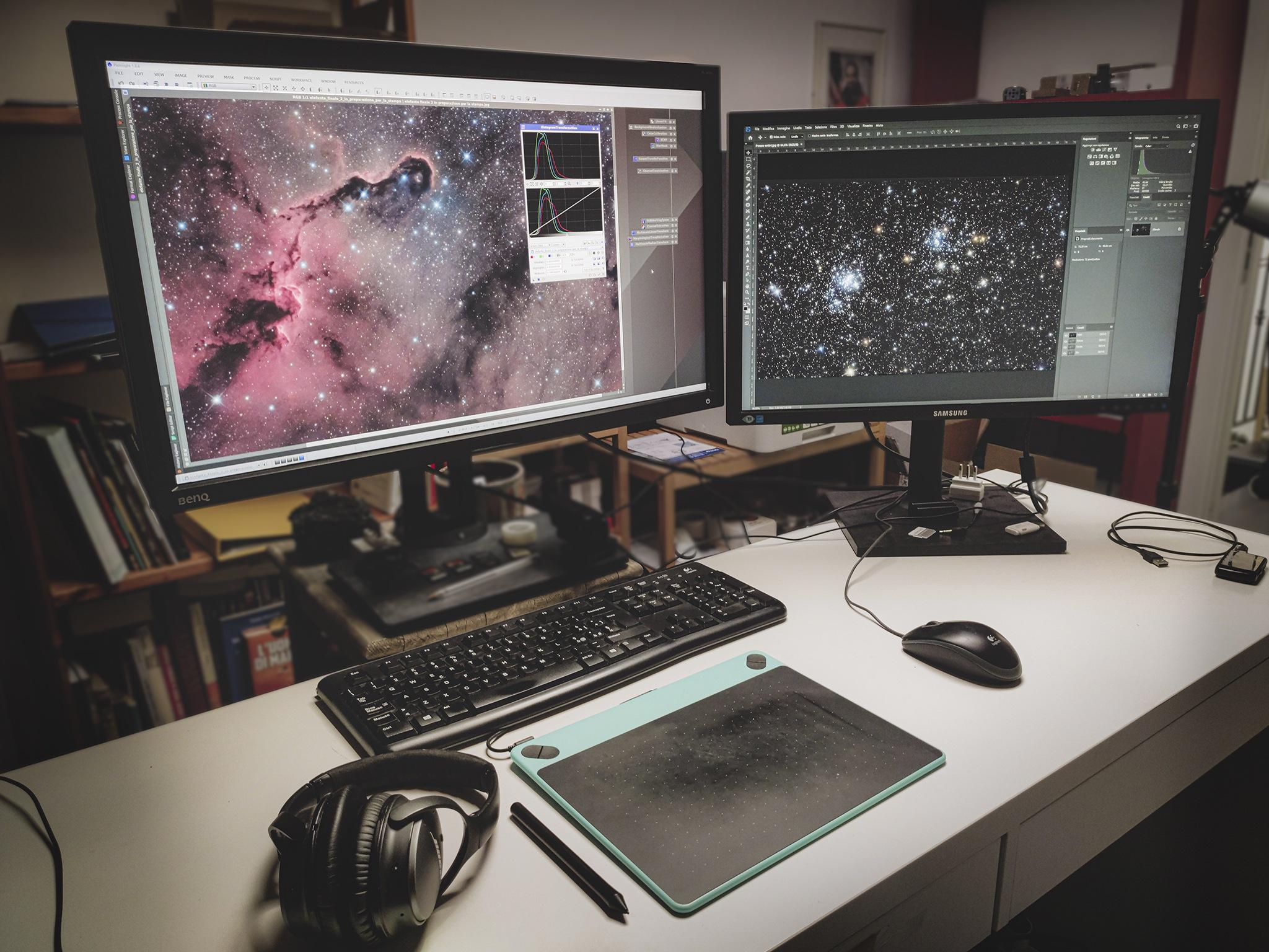 Post produzione di astrofotografia su misura per te Eventi corsi e workshop di astrofotografia Formazione Adobe e Corsi Software