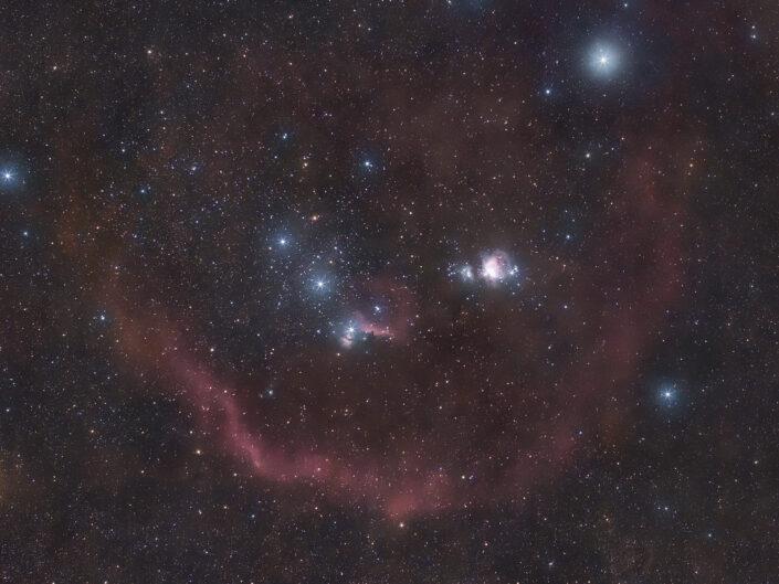 grande nebulosa di Orione Messier 42 anello di barnard
