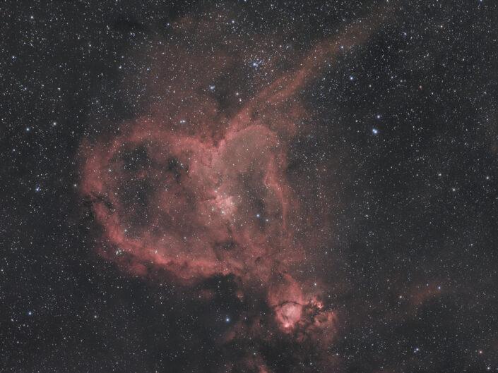 Nebulosa Cuore IC 1805 qhy367c full frame tecnosky ag90 QHY 367C Full Frame, la prima prova