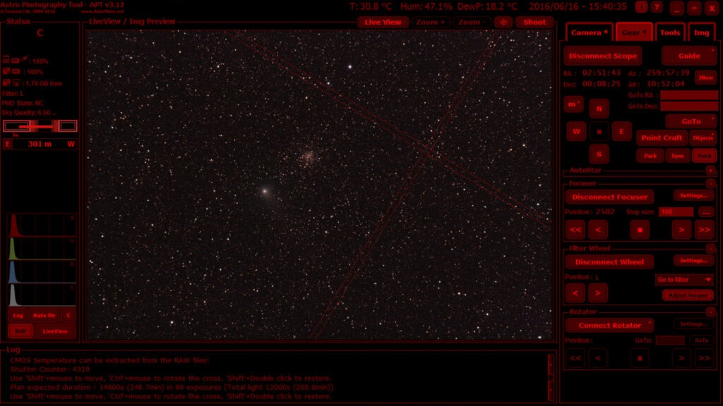 APT Astrophotography Tool le novità della v 3.82 3.84