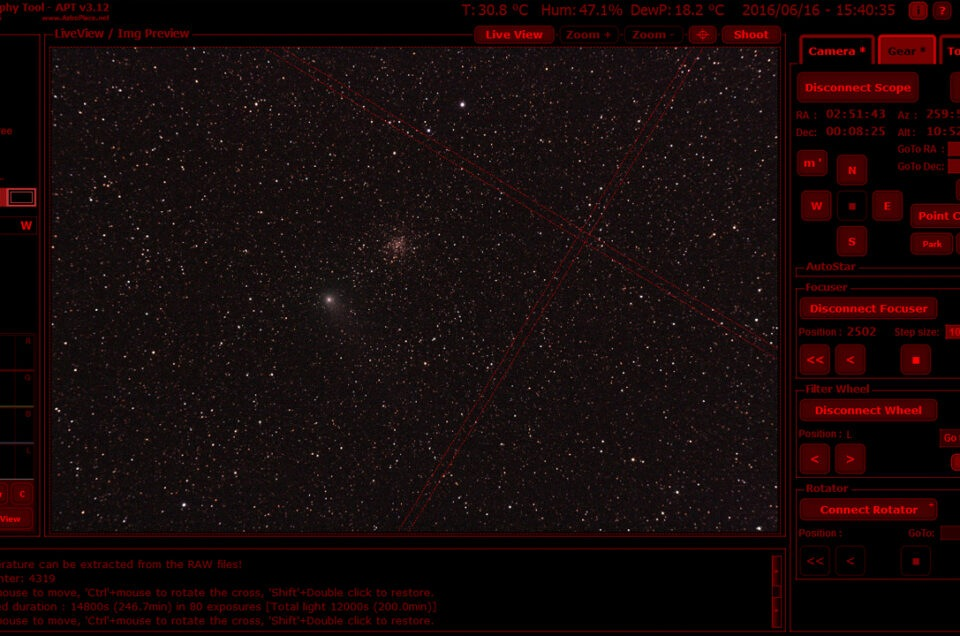 APT Astrophotography Tool le novità della v 3.82