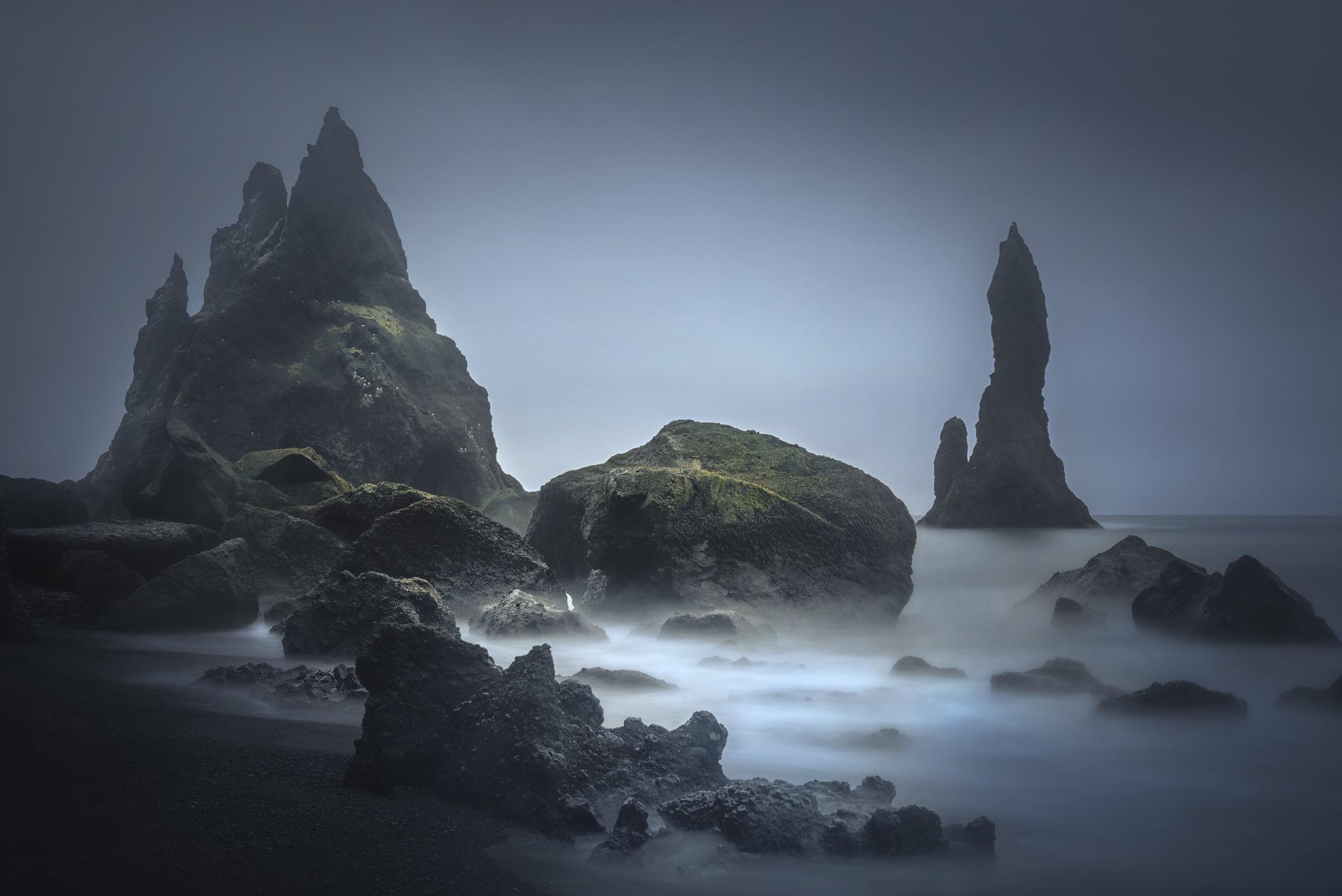 Black Water iceland islanda elaborazione acqua cascata mare oceano photoshop processing orton