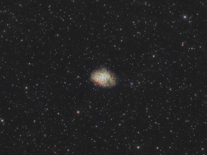 Crab Nebula nebulosa Granchio M1 messier 1 astrofotografia supernova remnant