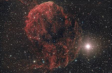 Nebulosa Jellyfish luca fornaciari astrofotografia