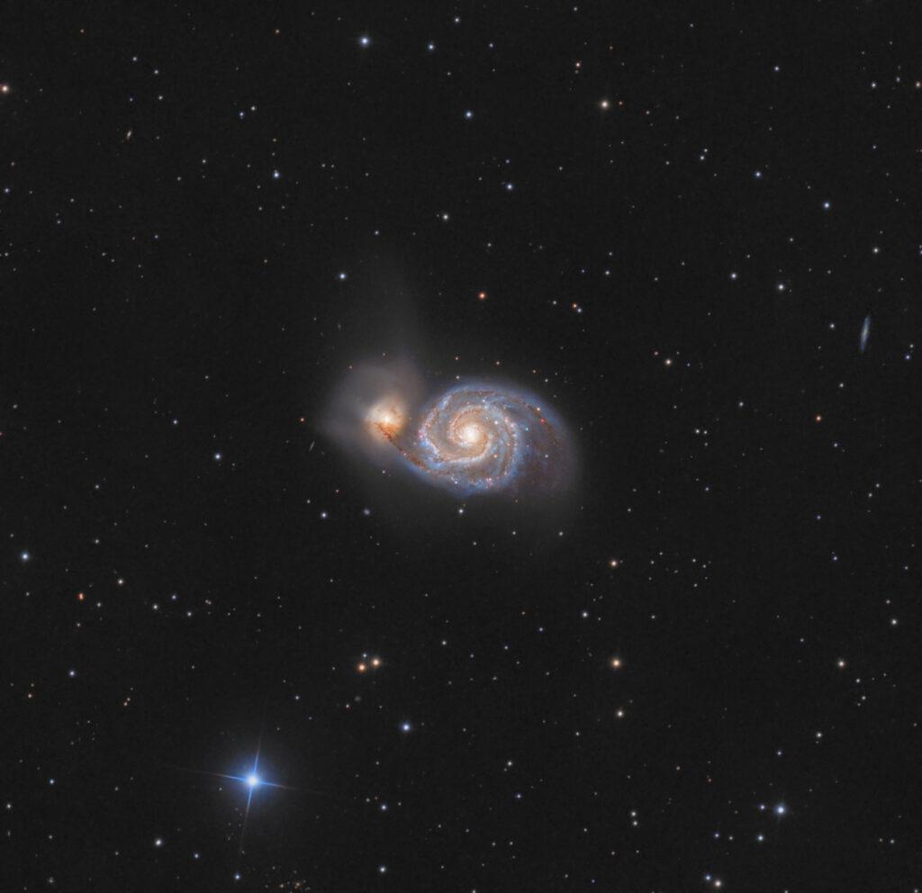 Galassia Vortice M 51 astrofotografia
