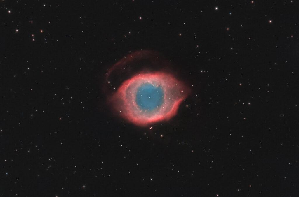Nebulosa Planetaria Elica NGC 7293 Tecnosky APO SLD 130/900 Blog di astrofotografia