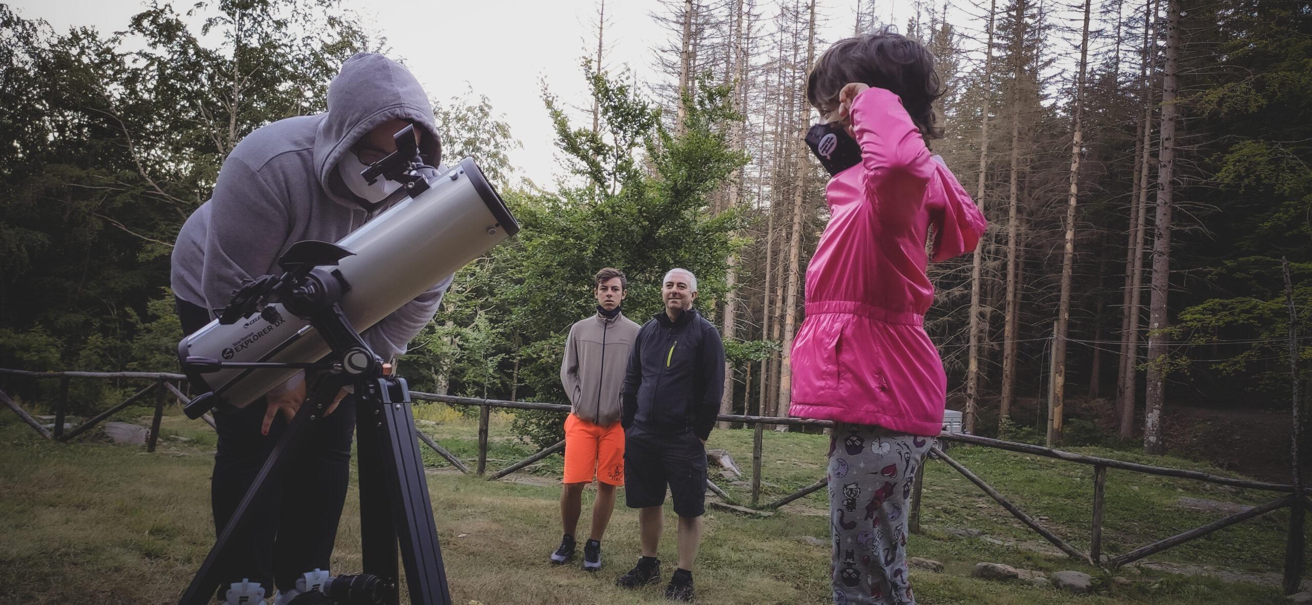 Astronomia e osservazione al telescopio a Capanno Tassoni