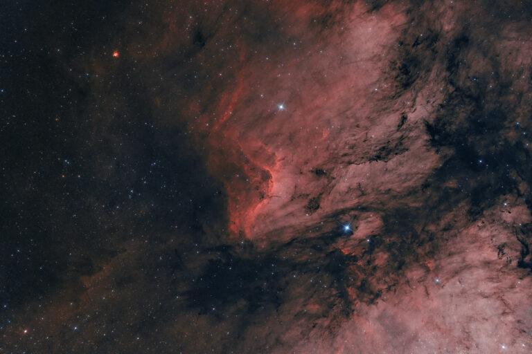 Nuova ASI 2400 MC Pro prime prove Astrofotografia sulla nebulosa Pellicano NGC 5070