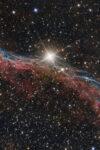 astrofotografia sulla Nuova ASI 2400 MC Pro prime prove Nebulosa Scopa della Strega NGC 6960 asi 2400 rc tecnosky rc8 banda larga l-pro optolong nebulosa velo