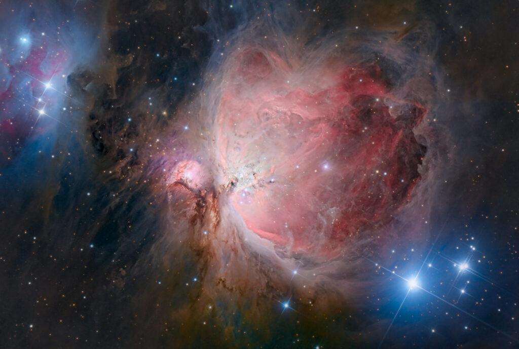 Grande nebulosa di Orione M 42 great orion nebula banda larga astrofotografia trapezio fotografare osservare fotografia telescopio