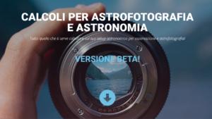 Calcoli per Astrofotografia: campionamento, risoluzione, NPF e molto altro ingrandimenti oculare risoluzione