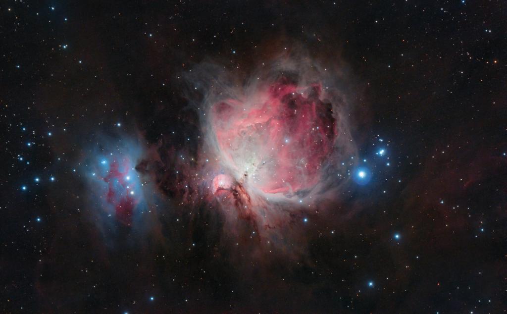 Astrofotografia con reflex e Eagle Core La Grande Nebulosa di Orione e la Running Man | M 42 | Con Eagle Core e Sky-Watcher 80ED astrofotografia skywatcher fotografia notturna orion nebula m42