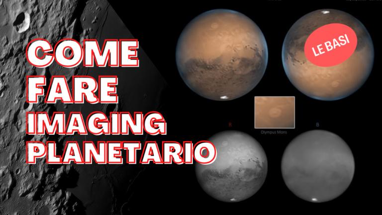 Come iniziare a fare Imaging Planetario a Luna e pianeti con un telescopio astronomico live stack marte giove urano saturno