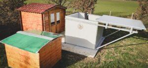 Lo Shelter Astronomico: la casetta con tetto scorrevole osservatorio