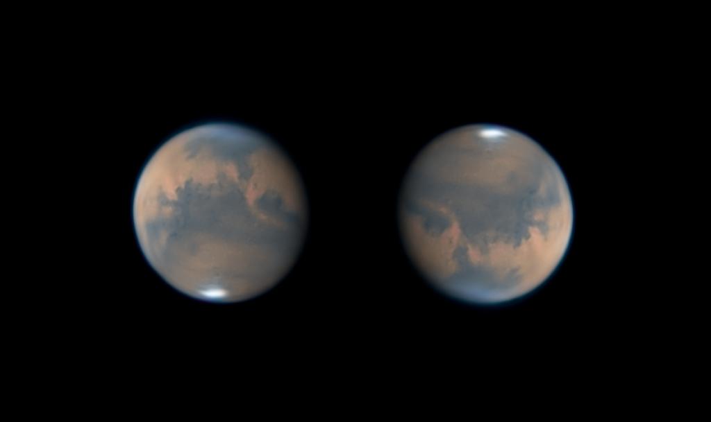 Marte 2020, realizzato presso l'associazione astrofili GAGBA di Modena con Meade LX200 e ASI 120 monocromatica imaging planetario astrofotografia
