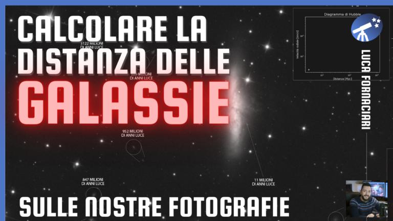 Calcolare la distanza delle galassie nelle immagini di astrofotografia legge di hubble mpc megaparsec milioni anni luce mly fotografia astronomica redshift