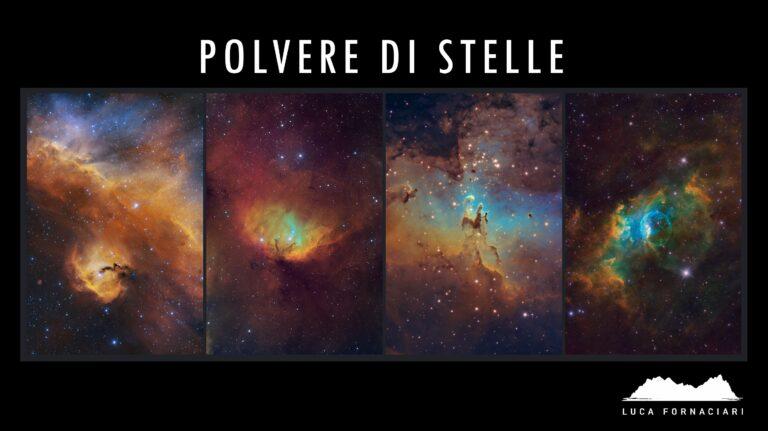 Le nostre iniziative di divulgazione di Astrofotografia e Astronomia amatoriale dedicate ad adulti e bambini, con conferenze e laboratori. polvere di stelle Polvere di Stelle: l'arte dell'astrofotografia